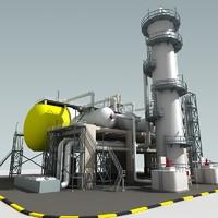 3d refinery unit model