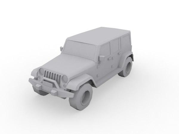 jeep wrangler 3d model