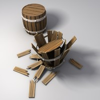 simple wooden barrel 3d model