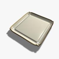 square plate 3d c4d