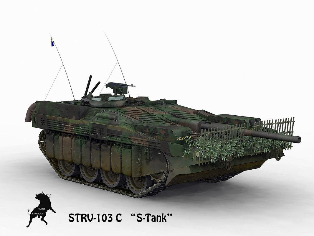 3d model of strv-103 c summer