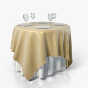 3d tablecloth table