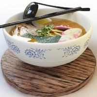 3d japanese noodles