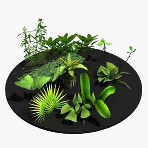3d model water plants
