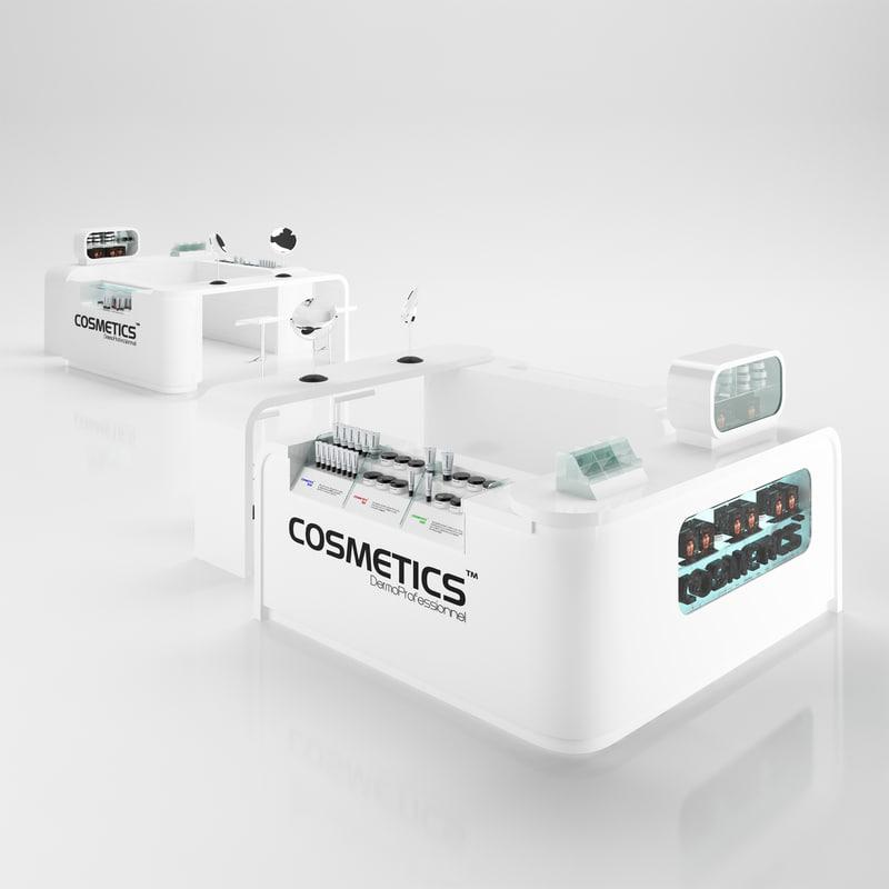 cosmetics stand 3d obj