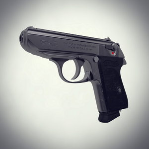 3d istic pistol walther ppk model