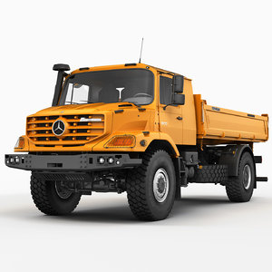 3d mercedes zetros tipper model