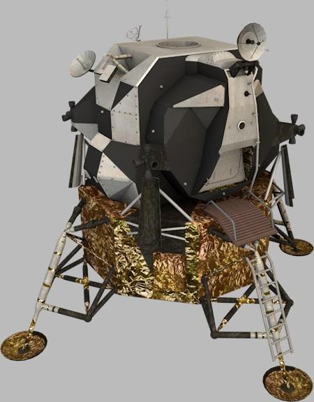 apollo lunar module 3d obj