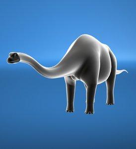 brontosaurus 3d fbx