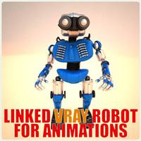 robot bot 3d 3ds
