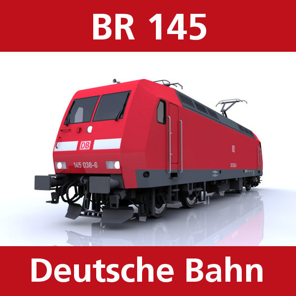 3d model br 145 engine cargo trains