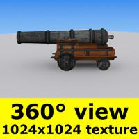 historic cannon 3d model