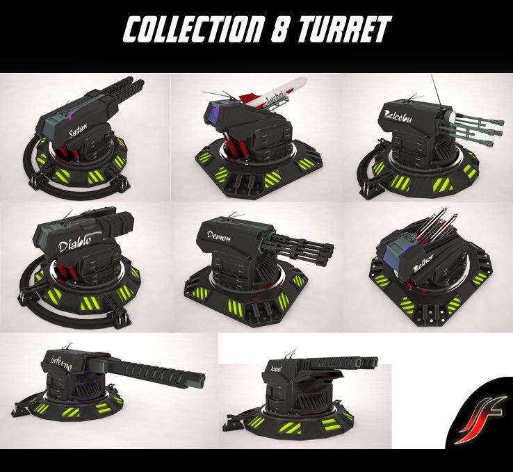 3d 8 turret model