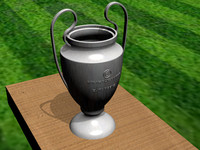free champions cup 3d model