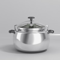 3d pan cook cooker model