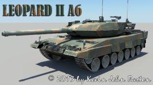 3d rigged leopard a6 tank model