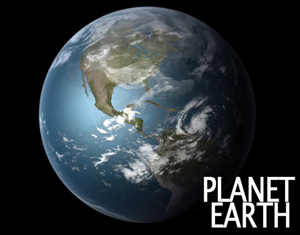 3d model universe earth planet