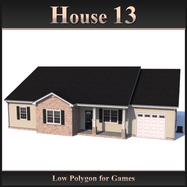 3d dxf house 13