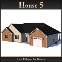 Low Polygon House 5