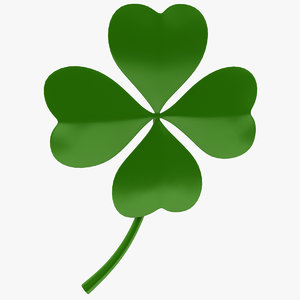 3d model lucky clover luck
