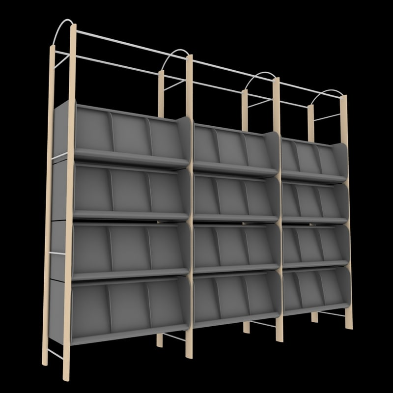 magazine shelf 3d max
