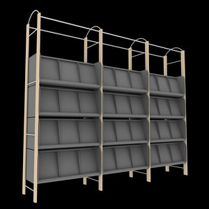 magazine shelf 3d max