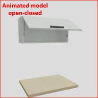 3d 3ds kitchen furnitures 80 cm