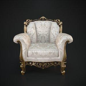 3d cechov chair armchair model