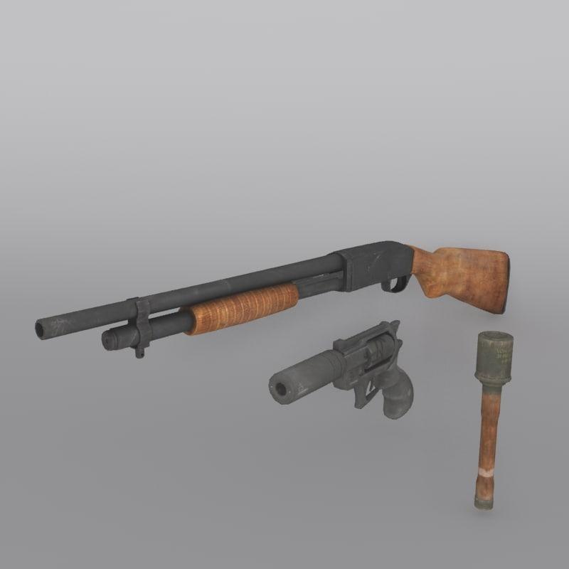 3d weapon set