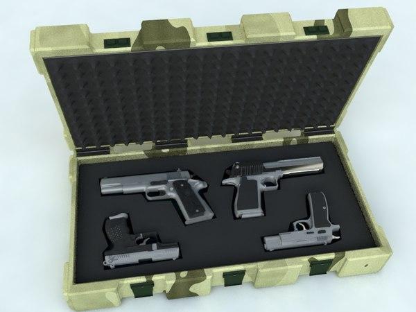 3d model of set guns case