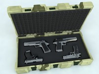 3d model of set guns case