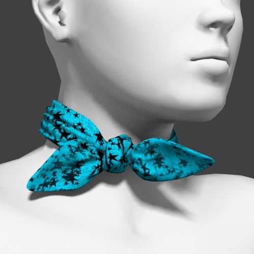 scarf neck 3d obj