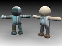 3d model rag doll