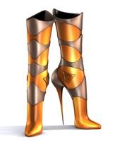 heel boot 3d model