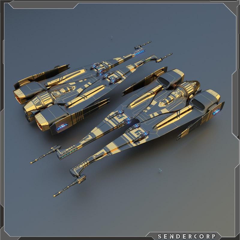 star starship 3d model