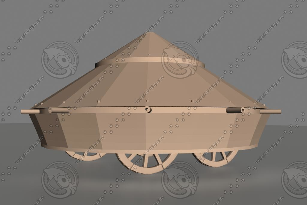 3d model leonardo da vinci tank