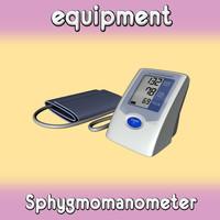 3d model sphygmomanometer meter