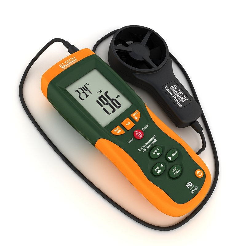 3d thermo-anemometer measures air