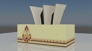 free tissue box 3d model