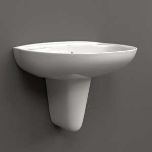 3d roca victoria basin semi-pedestal model