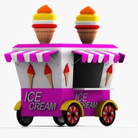 Cartoon Ice Cream Cart