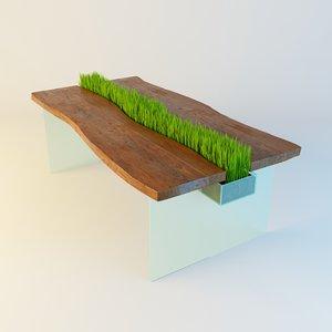 3d model table grass