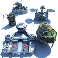 sci-fi stations obj