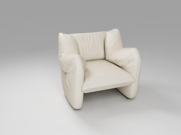 heaven armchair 3d obj