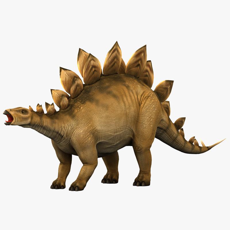 stegosaurus prehistoric modeled 3d model