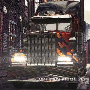 3d optimus prime truck