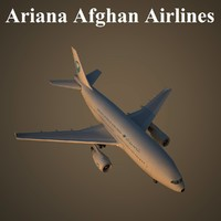 3d model airbus a-310 airlines