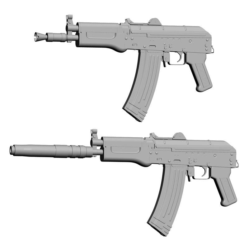 3d model aks 74u