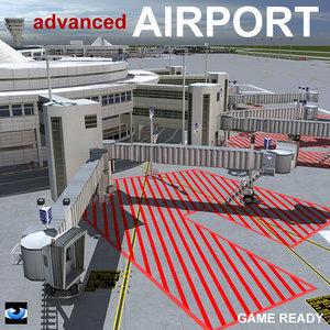 3d model advanced airport