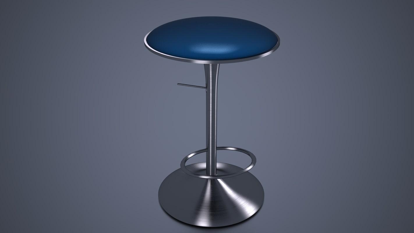 bar chair 3d model